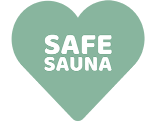Safe Sauna label